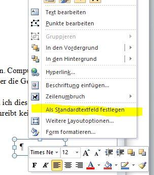 word_standardtextfeld